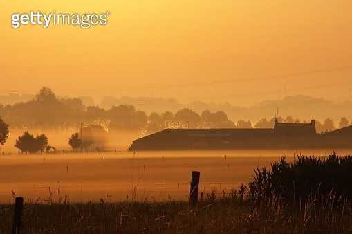 Country sunrise scene - gettyimageskorea