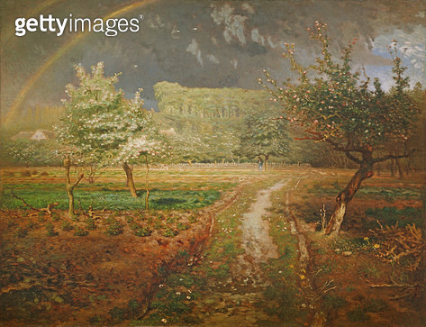 <b>Title</b> : Spring at Barbizon, 1868-73 (oil on canvas)<br><b>Medium</b> : oil on canvas<br><b>Location</b> : Musee d'Orsay, Paris, France<br> - gettyimageskorea