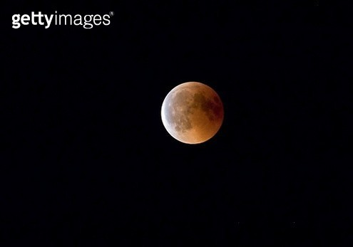 Full moon, blood moon in total lunar eclipse, 27.07.2018, Rosenheim, Bavaria, Germany - gettyimageskorea