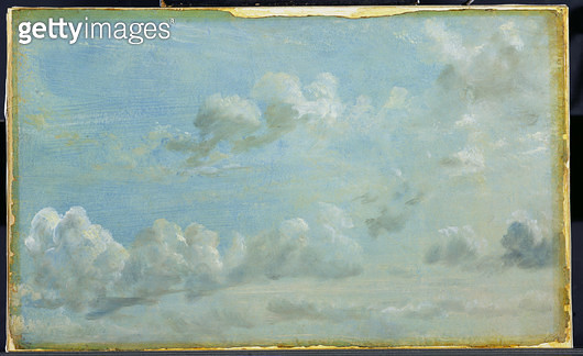 <b>Title</b> : Study of Cumulus Clouds, 1822 (oil on paper laid down on panel)<br><b>Medium</b> : oil on paper laid down on panel<br><b>Location</b> : Yale Center for British Art, Paul Mellon Collection, USA<br> - gettyimageskorea