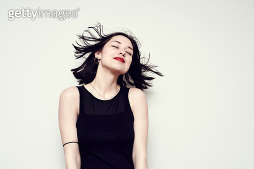 Portrait of a carefree young woman - gettyimageskorea