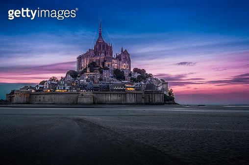 Mont St-Michel at Night - gettyimageskorea