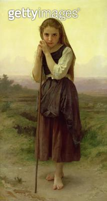 <b>Title</b> : A Little Shepherdess, 1891 (oil on canvas)<br><b>Medium</b> : <br><b>Location</b> : Private Collection<br> - gettyimageskorea