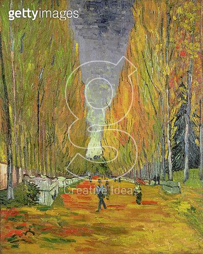Allee des Alyscamps in Arles, 1888. Vincent Van Gogh - gettyimageskorea