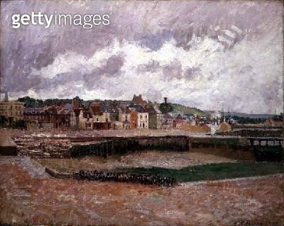 <b>Title</b> : Dieppe, the Duquesne Basin, 1902 (oil on canvas)<br><b>Medium</b> : oil on canvas<br><b>Location</b> : Private Collection<br> - gettyimageskorea