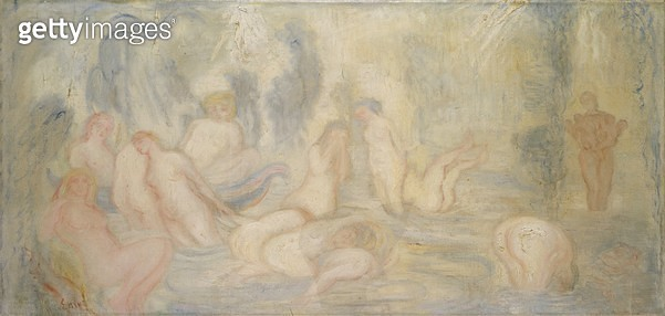 <b>Title</b> : Bathing Girls (Curved and Undulating Lines) 1911 (oil on canvas)<br><b>Medium</b> : oil on canvas<br><b>Location</b> : Private Collection<br> - gettyimageskorea