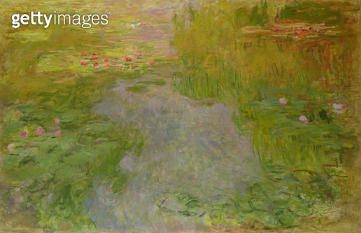 <b>Title</b> : Waterlilies, c.1919 (oil on canvas)<br><b>Medium</b> : oil on canvas<br><b>Location</b> : Private Collection<br> - gettyimageskorea