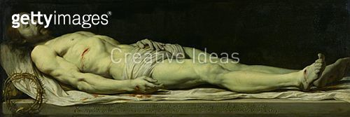 <b>Title</b> : The Dead Christ on his Shroud (oil on panel)<br><b>Medium</b> : oil on panel<br><b>Location</b> : Louvre, Paris, France<br> - gettyimageskorea