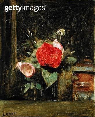 <b>Title</b> : Bouquet of Flowers in a Glass beside a Tobacco Pot, c.1873-74 (oil on canvas)Additional InfoBouquet de Fleurs dans un Verre a Co<br><b>Medium</b> : oil on canvas<br><b>Location</b> : Private Collection<br> - gettyimageskorea