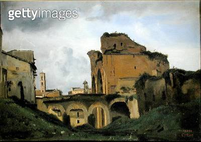 <b>Title</b> : Basilica of Constantine, c.1826-27 (oil on canvas)Additional Infoalso known as Basilica of Maxentius;<br><b>Medium</b> : oil on canvas<br><b>Location</b> : Private Collection<br> - gettyimageskorea