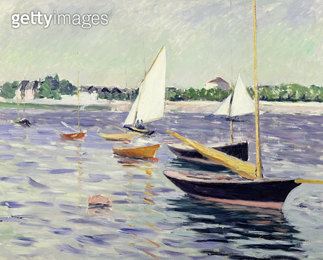 <b>Title</b> : Sailing Boats at Argenteuil, 1891 (oil on canvas)<br><b>Medium</b> : oil on canvas<br><b>Location</b> : Private Collection<br> - gettyimageskorea