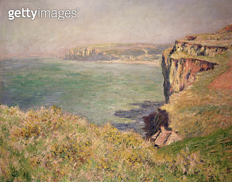 <b>Title</b> : Cliff at Varengeville, 1882 (oil on canvas)<br><b>Medium</b> : oil on canvas<br><b>Location</b> : Private Collection<br> - gettyimageskorea