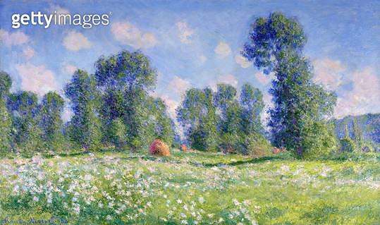 <b>Title</b> : Effect of Spring, Giverny, 1890 (oil on canvas)<br><b>Medium</b> : oil on canvas<br><b>Location</b> : Private Collection<br> - gettyimageskorea