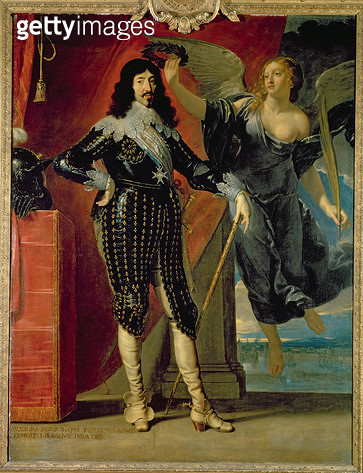 <b>Title</b> : Louis XIII (1601-43) Crowned by Victory, 1635 (oil on canvas)<br><b>Medium</b> : oil on canvas<br><b>Location</b> : Louvre, Paris, France<br> - gettyimageskorea