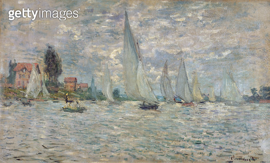 <b>Title</b> : The Boats, or Regatta at Argenteuil, c.1874 (oil on canvas)<br><b>Medium</b> : oil on canvas<br><b>Location</b> : Musee d'Orsay, Paris, France<br> - gettyimageskorea