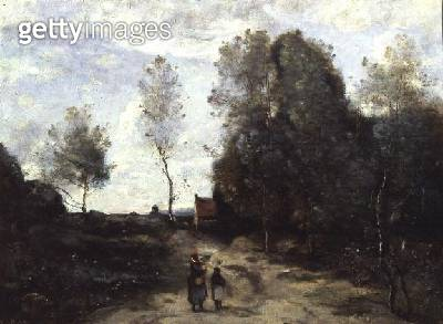 <b>Title</b> : The Road (oil on canvas)<br><b>Medium</b> : oil on canvas<br><b>Location</b> : Louvre, Paris, France<br> - gettyimageskorea