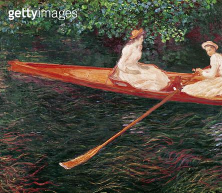 <b>Title</b> : Boating on the Epte, c.1890 (oil on canvas)<br><b>Medium</b> : oil on canvas<br><b>Location</b> : Museu de Arte, Sao Paulo, Brazil<br> - gettyimageskorea
