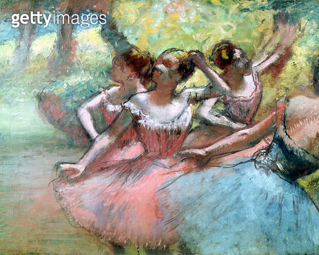 <b>Title</b> : Four ballerinas on the stage (pastel)<br><b>Medium</b> : pastel<br><b>Location</b> : Museu de Arte, Sao Paulo, Brazil<br> - gettyimageskorea