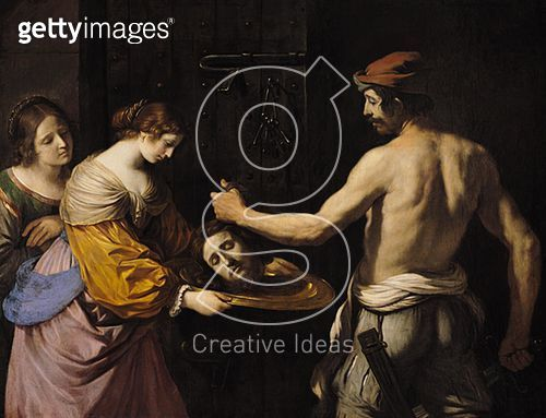 <b>Title</b> : Salome Receiving the Head of St. John the Baptist, 1637 (oil on canvas)<br><b>Medium</b> : oil on canvas<br><b>Location</b> : Musee des Beaux-Arts, Rennes, France<br> - gettyimageskorea