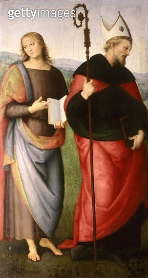<b>Title</b> : St. John the Evangelist and St. Augustine of Hippo, c.1502-21 (oil on panel)Additional InfoSaint Jean l'Evangeliste et Saint Aug<br><b>Medium</b> : oil on panel<br><b>Location</b> : Musee des Augustins, Toulouse, France<br> - gettyimageskorea