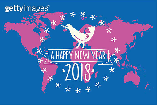 white peace dove symbol on world map background - gettyimageskorea