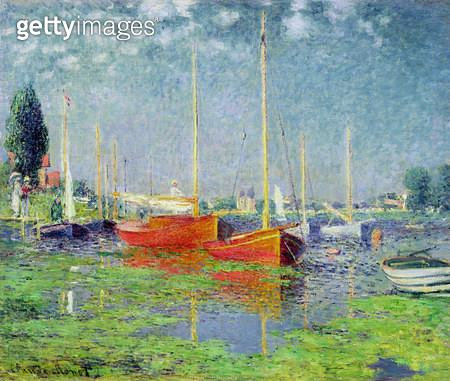 <b>Title</b> : Argenteuil, c.1872-5 (oil on canvas)<br><b>Medium</b> : oil on canvas<br><b>Location</b> : Musee de l'Orangerie, Paris, France<br> - gettyimageskorea