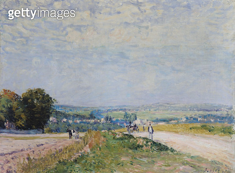 <b>Title</b> : The Road to Montbuisson at Louveciennes, 1875 (oil on canvas)<br><b>Medium</b> : oil on canvas<br><b>Location</b> : Musee de l'Orangerie, Paris, France<br> - gettyimageskorea