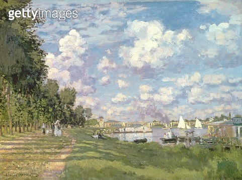 <b>Title</b> : The Marina at Argenteuil, 1872 (oil on canvas)<br><b>Medium</b> : oil on canvas<br><b>Location</b> : Musee d'Orsay, Paris, France<br> - gettyimageskorea