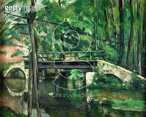 <b>Title</b> : The Bridge at Maincy, or The Bridge at Mennecy, or The Little Bridge, c.1879 (oil on canvas)<br><b>Medium</b> : oil on canvas<br><b>Location</b> : Musee d'Orsay, Paris, France<br> - gettyimageskorea