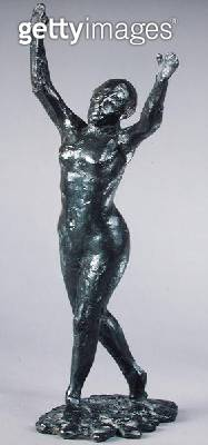 <b>Title</b> : Dancer moving forwards with raised arms, c.1919-20 (bronze)Additional InfoDanseuse s'avancant les Bras leves;<br><b>Medium</b> : bronze<br><b>Location</b> : Private Collection<br> - gettyimageskorea