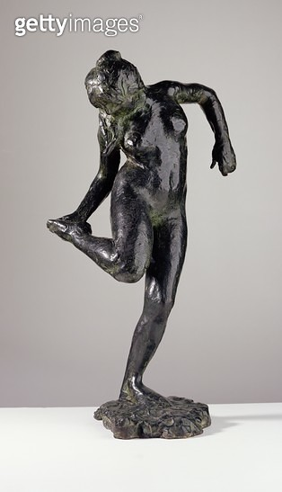<b>Title</b> : Dancer looking at the sole of her right foot (bronze)<br><b>Medium</b> : bronze<br><b>Location</b> : Private Collection<br> - gettyimageskorea