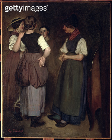 <b>Title</b> : The Stories of Grandmother Salvan, 1847 (oil on panel)Additional InfoLes Recits de la Grand-Mere Salvan; grand mere;<br><b>Medium</b> : oil on panel<br><b>Location</b> : Private Collection<br> - gettyimageskorea