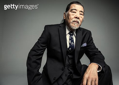 Studio portrait of businessman - gettyimageskorea