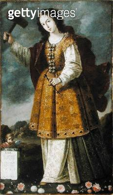 <b>Title</b> : Jael, c.1650 (oil on canvas)Additional Infoartist was student to Francisco de Zurbaran; killed Sisera, commander of a coalition<br><b>Medium</b> : oil on canvas<br><b>Location</b> : Private Collection<br> - gettyimageskorea