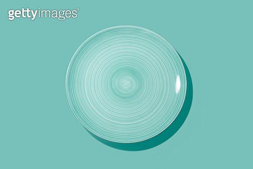 Swirl Brush Pattern Empty Plate - gettyimageskorea