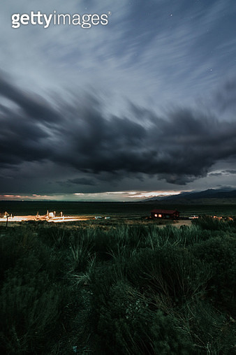 Storm Clouds Over Land - gettyimageskorea