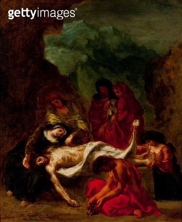 <b>Title</b> : The Entombment, 1847-49 (oil on canvas)<br><b>Medium</b> : oil on canvas<br><b>Location</b> : Phoenix Art Museum, Arizona, USA<br> - gettyimageskorea