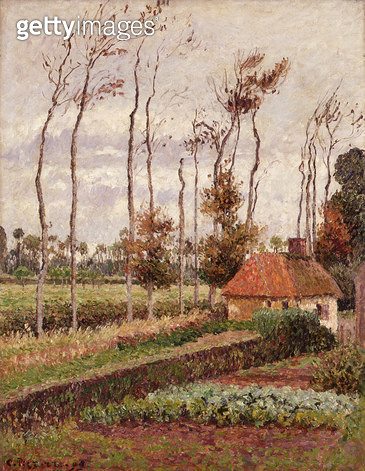 <b>Title</b> : Landscape at Varengeville, Grey Weather, 1899 (oil on canvas)<br><b>Medium</b> : oil on canvas<br><b>Location</b> : Phoenix Art Museum, Arizona, USA<br> - gettyimageskorea