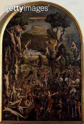 <b>Title</b> : The Crucifixion and the Glorification the Ten Thousand Martyrs on Mt. Ararat (oil on canvas)<br><b>Medium</b> : oil on canvas<br><b>Location</b> : Galleria dell' Accademia, Venice, Italy<br> - gettyimageskorea