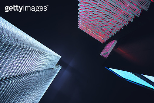 Low angle view of skyscrapers in Shanghai - gettyimageskorea