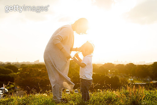 Mother telling love to her son. - gettyimageskorea