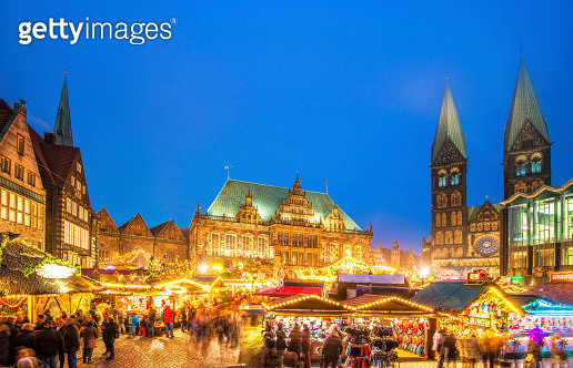 Colorful Bremen Christmas Market - gettyimageskorea