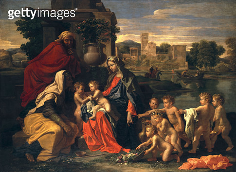 <b>Title</b> : The Holy Family with the Infant St.John the Baptist and St. Elizabeth<br><b>Medium</b> : <br><b>Location</b> : Private Collection<br> - gettyimageskorea