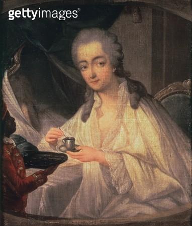 <b>Title</b> : La Comtesse du Barry (1743-93) (oil on canvas)<br><b>Medium</b> : <br><b>Location</b> : Chateau de Versailles, France<br> - gettyimageskorea