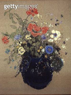 <b>Title</b> : Blue Vase of Flowers<br><b>Medium</b> : <br><b>Location</b> : Private Collection<br> - gettyimageskorea