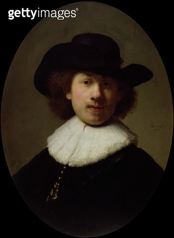 <b>Title</b> : Self Portrait, 1632 (oil on panel)<br><b>Medium</b> : oil on panel<br><b>Location</b> : Burrell Collection, Glasgow, Scotland<br> - gettyimageskorea