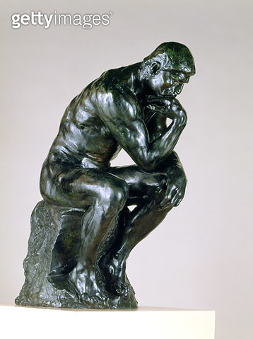<b>Title</b> : The Thinker, 1880-81 (bronze)<br><b>Medium</b> : bronze<br><b>Location</b> : Burrell Collection, Glasgow, Scotland<br> - gettyimageskorea