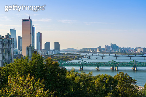 한강철교와 한강, 서울시 동작구 - gettyimageskorea