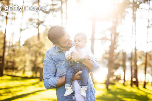 Happy father and son - gettyimageskorea