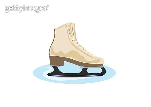 Friction ice skate - gettyimageskorea